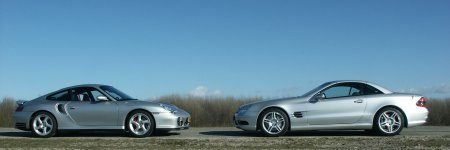 911 Turbo vs SL55 AMG