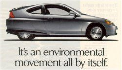 Honda Hybride advertentie