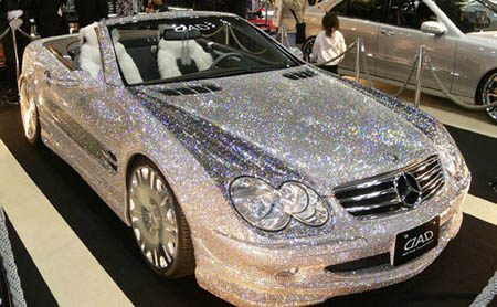 Mercedes SL diamonds