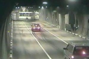 ongeluk in tunnel