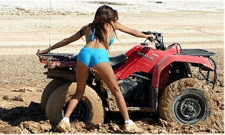 Quad Stuck Girls