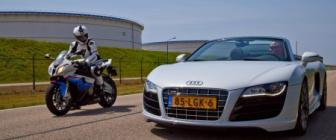 Rijtest & video: Audi R8 Spyder vs Gallardo vs BMW S 1000 RR