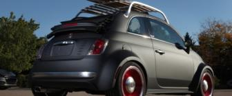 De bosjes in met Fiat 500C Beach Cruiser