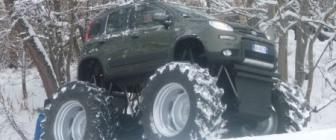 Fiat Panda 4x4 Big Foot = Epic [video]