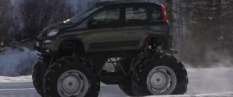 Fiat Panda Monster Truck is officieel los [video]