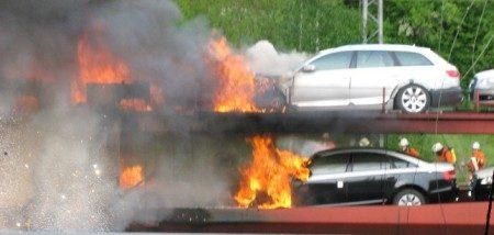 Audi branden best goed!