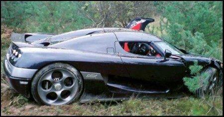 Koenigsegg CCX crash