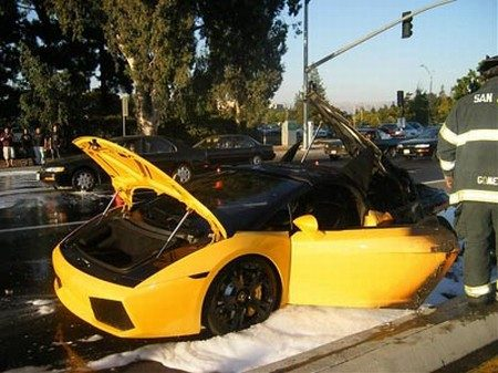 Lamborghini Gallardo afgefikt
