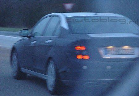 Mercedes C63 AMG spyshot