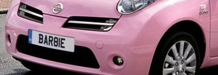 Nissan Micra Barbie kenteken
