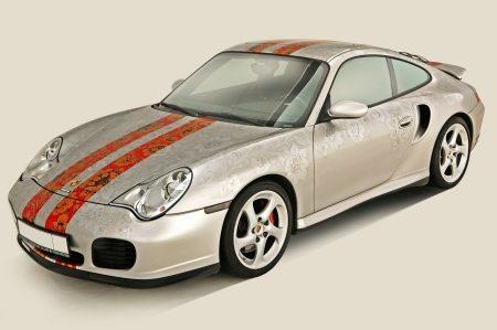Porsche 911 bloemetjesbehang