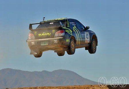 Subaru Impreza Ken Block gap jump