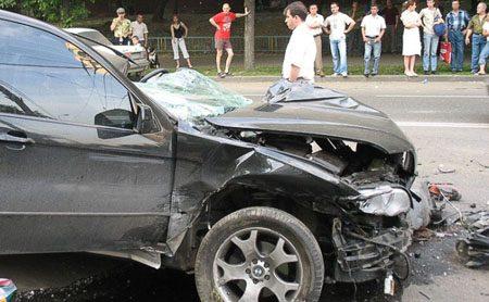 BMW X5 total loss