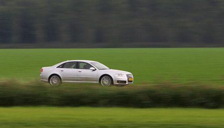 Audi S8 in actie