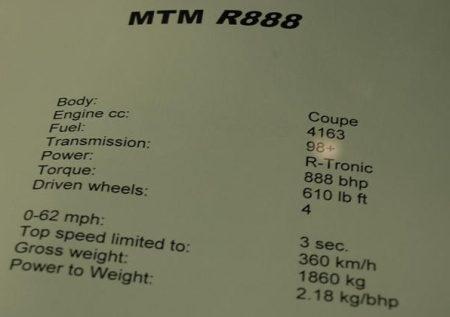 Audi R8 met 888 pk!