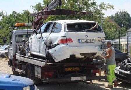 BMW M5 touring crashed