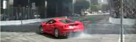 Ferrari F430 drift de muur in
