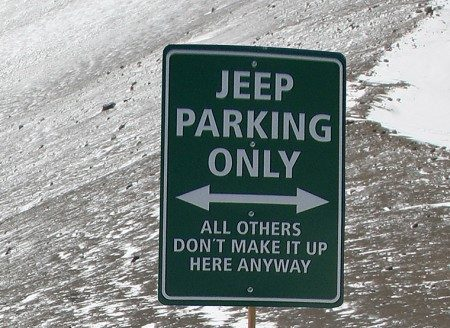 Jeep Wrangler parking