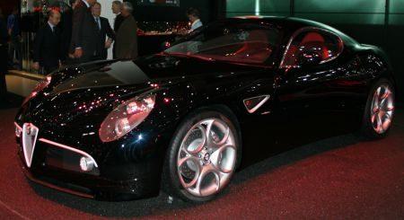 Alfa Romeo 8C Competizione nero