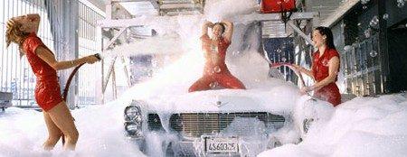 At the carwash!