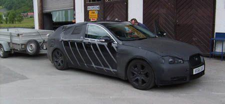 Jaguar XF spyshot