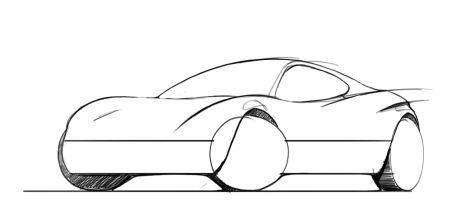 Auto s schetsen in frankrijk for 3d tekenen op computer