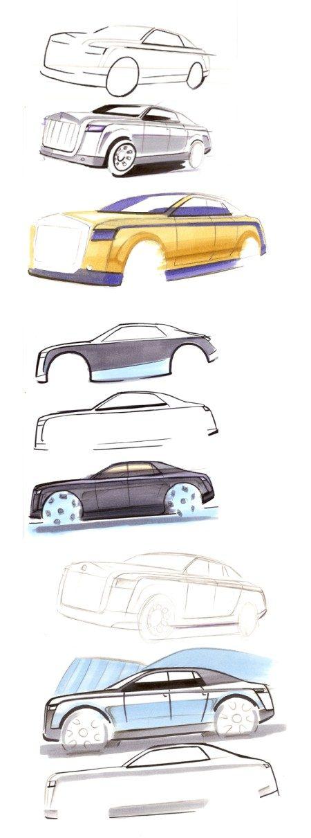 Rolls Royce instapper schetsen