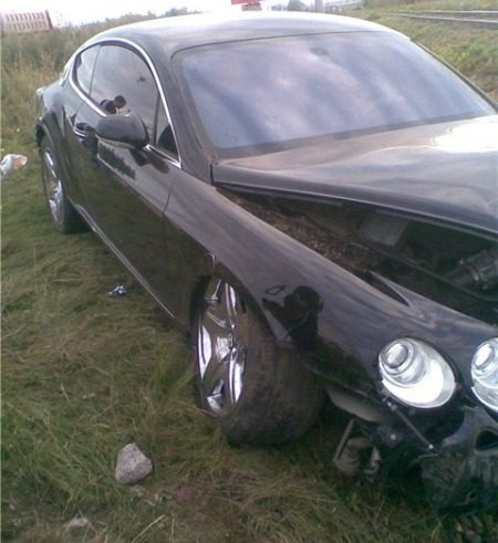 Bentley crash
