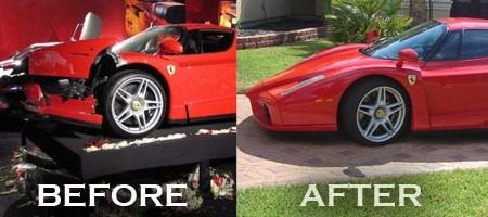 Ferrari Enzo before after