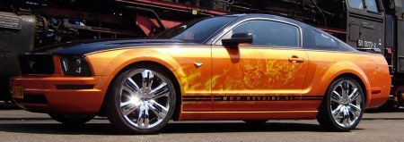 Ford Mustang custom paintjob