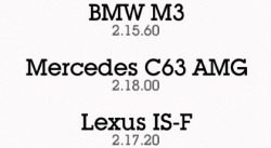 M3 vs C63 vs IS-F