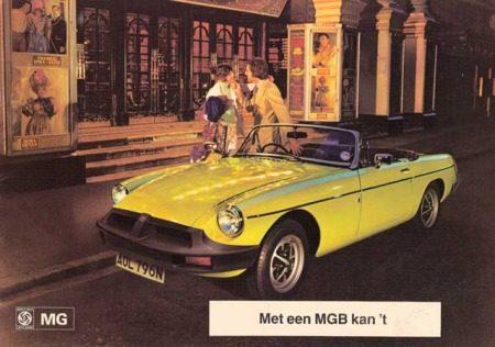 MG B reclame