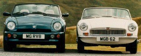 MG RV8 vs MG B