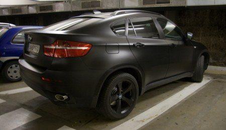 Matzwarte BMW X6