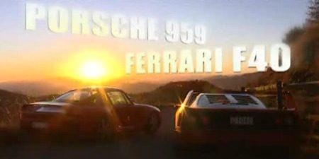 Porsche 959 vs Ferrari F40