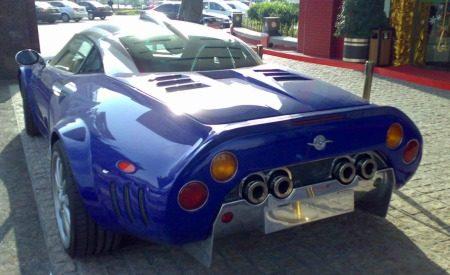 Spyker C8 Double12 S blauw met paars