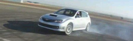 Subaru Impreza WRX STI smokin'