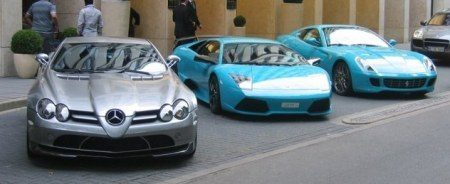 Turquoise supercars