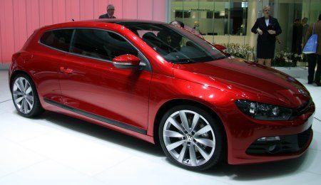 VW Scirocco in red.