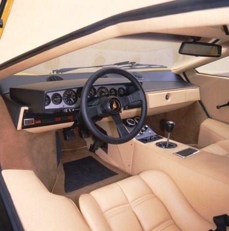Lamborghini Countach LP400 interieur