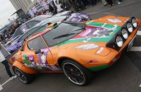 itasha gallardo m5 en een stratos in manga style. Black Bedroom Furniture Sets. Home Design Ideas