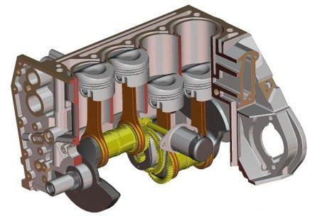 Verbrandingsmotor animatie