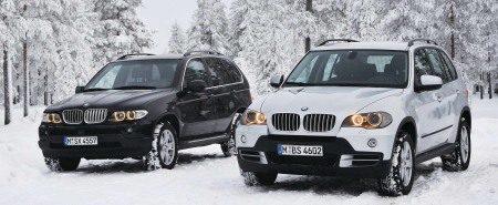 BMW X5 in de sneeuw