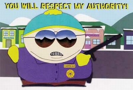 Cartman: you will respect my authority