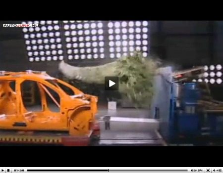 Kerstboom crashtest video