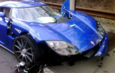Koenigsegg CCX crash