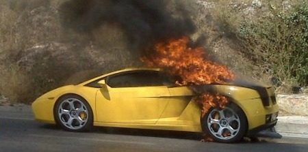Lamborghini Gallardo fikt in Athene