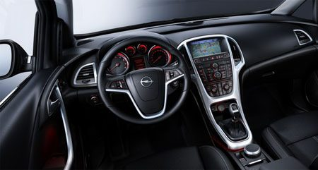 Opel Astra 2010 interieur