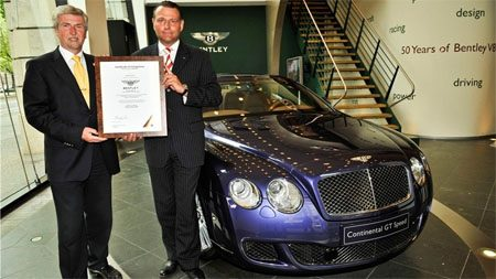 Bentley Continental 85 procent recyclebaar