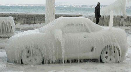 Bevroren auto